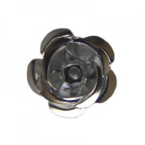 Aluminium flower 15mm with bottom hole silver colour